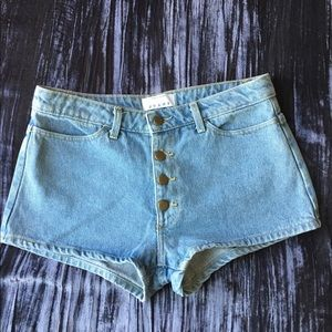 High waisted cheeky shorts